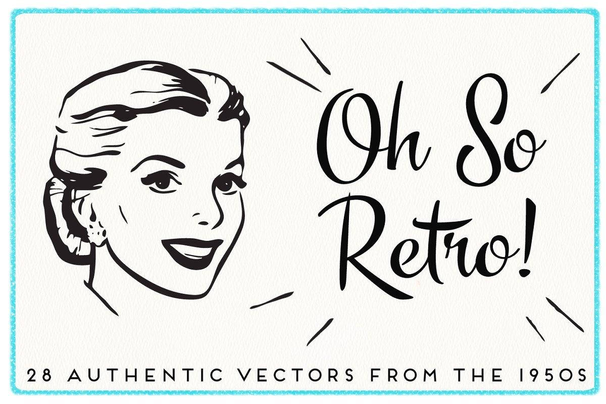 28 Authentic Retro 1950s Vectors.