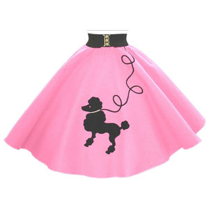 1950s Poodle Skirt Clipart.