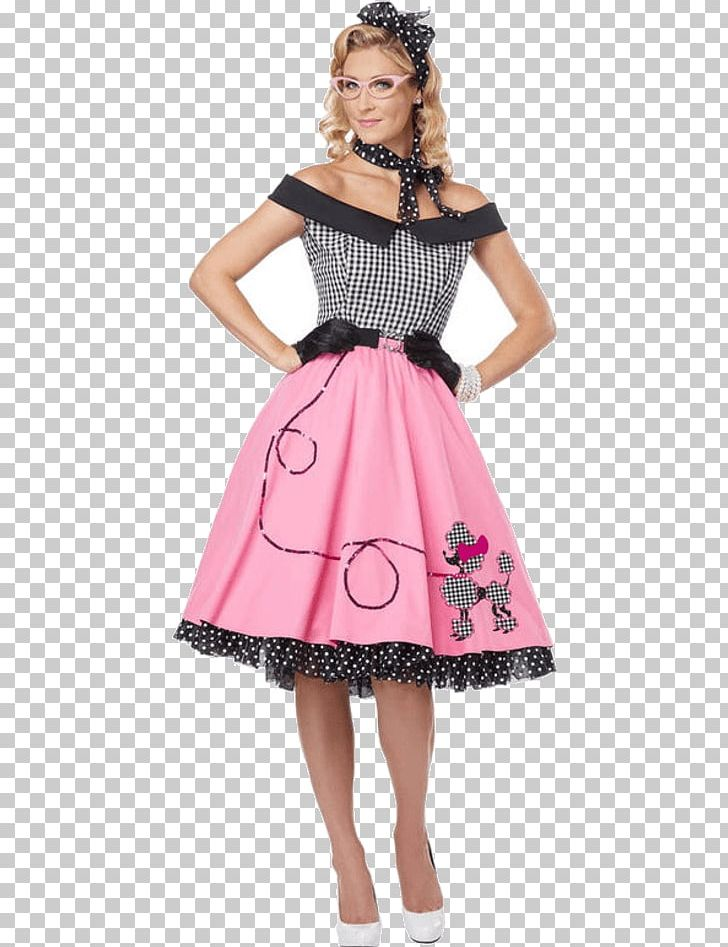 1950s Poodle Skirt Costume Party Sock Hop PNG, Clipart.