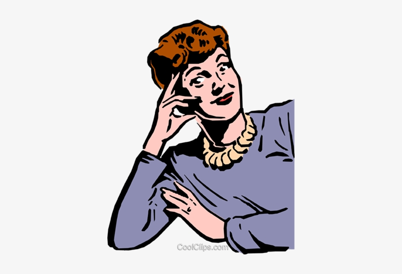1950\'s Woman Royalty Free Vector Clip Art Illustration PNG.
