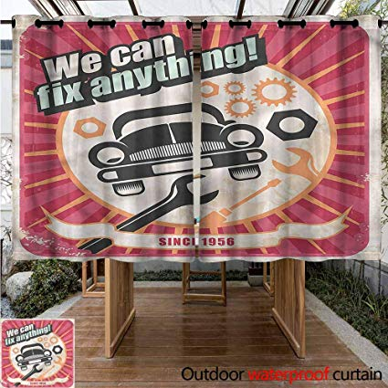 Amazon.com : Sunnyhome Outdoor Curtain Panel for Patio 1950s.