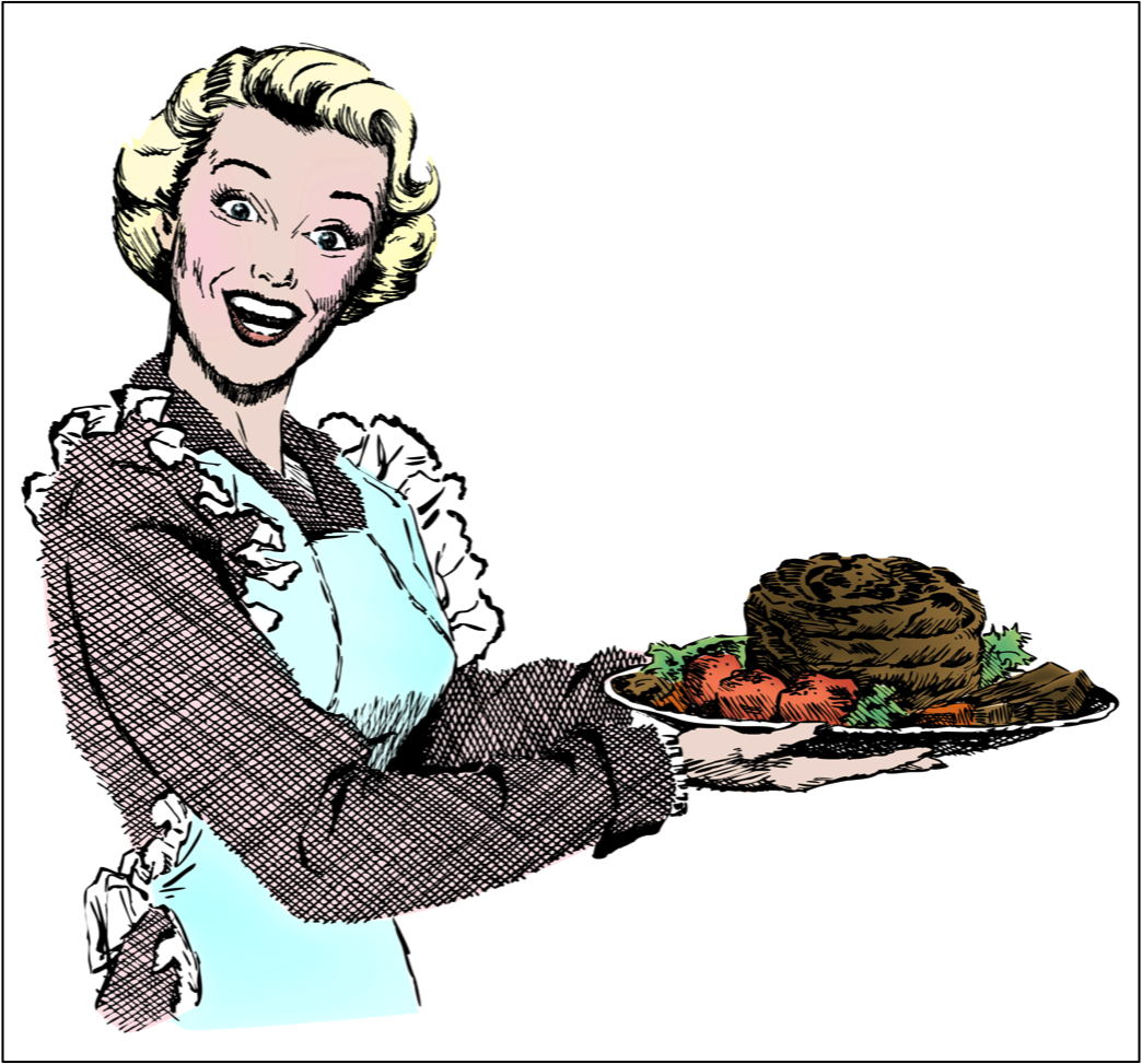 1950\'s Woman with Roast.