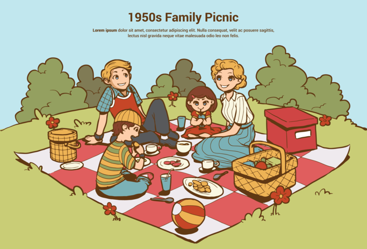 1950s Family Picnic.