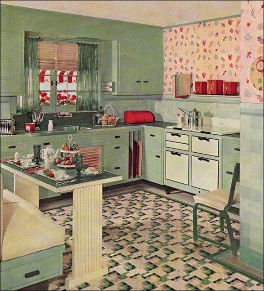 Fun, Retro Ideas for a 50s Style Kitchen.