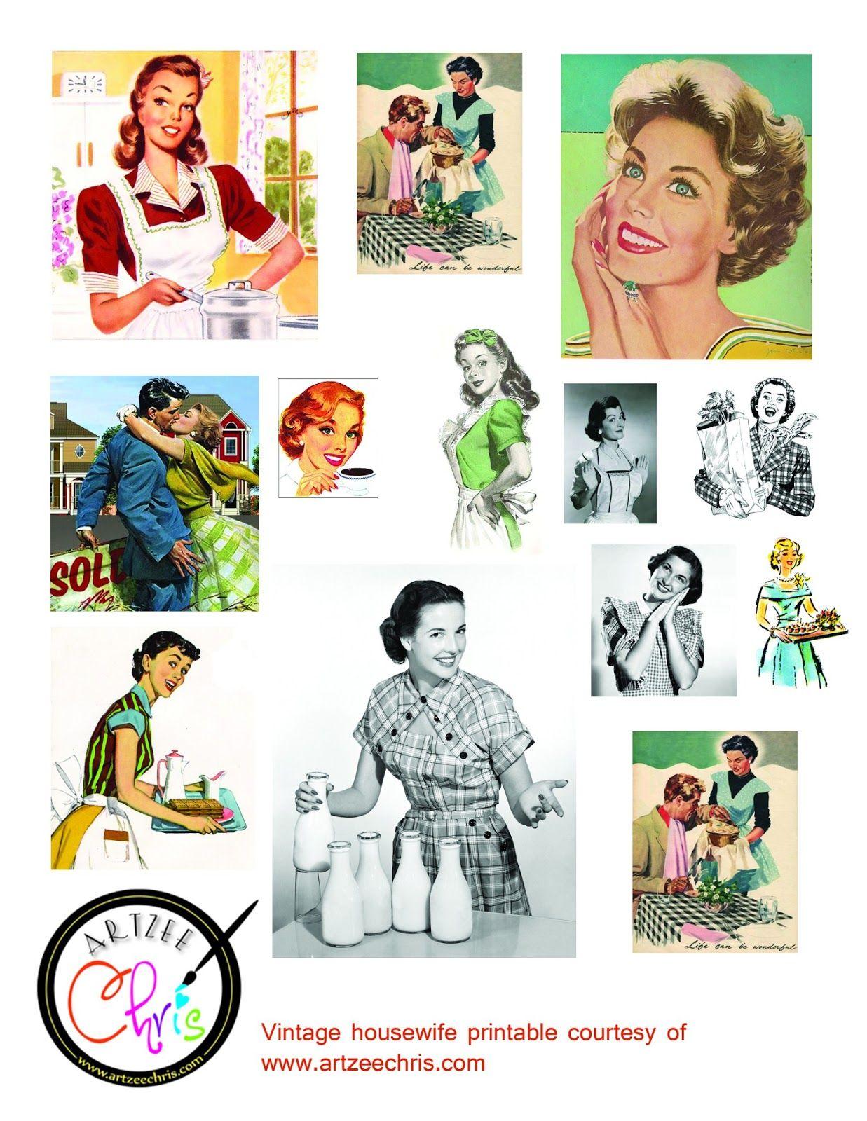 The Artzee Blog: Free Retro Vintage 1950s Housewife.