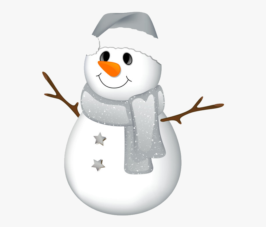 Snowman Clipart Clear Background.