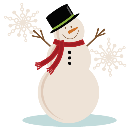 Vintage Snowman Clipart Transparent Background.