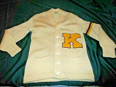 ANTIQUE VTG 1950S Letterman Sweater Imperial W/IS Patch.