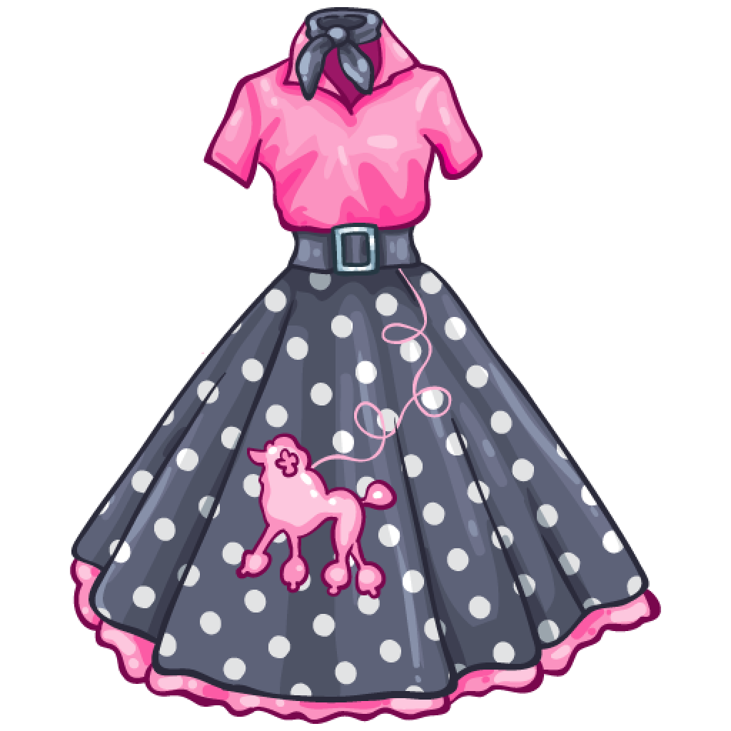 1950s advertising skirt clipart clipart images gallery for.