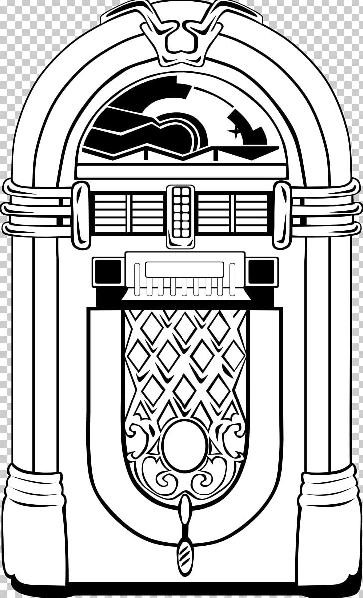 Jukebox 1950s PNG, Clipart, 1950s, Area, Art, Black And.