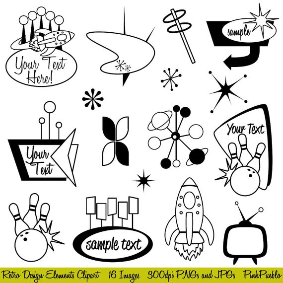 Clip Art From The 1950s Clipart.