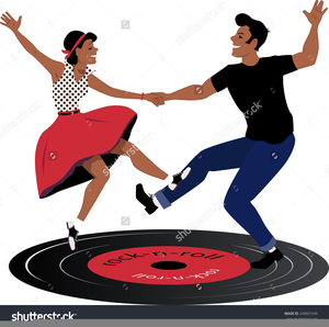 Library of rock and roll dancers vector freeuse download png.