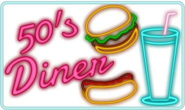 1950s Diner Clipart.