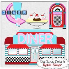 1950s Retro Diner Clip Art https://www.etsy.com/listing/163272383.