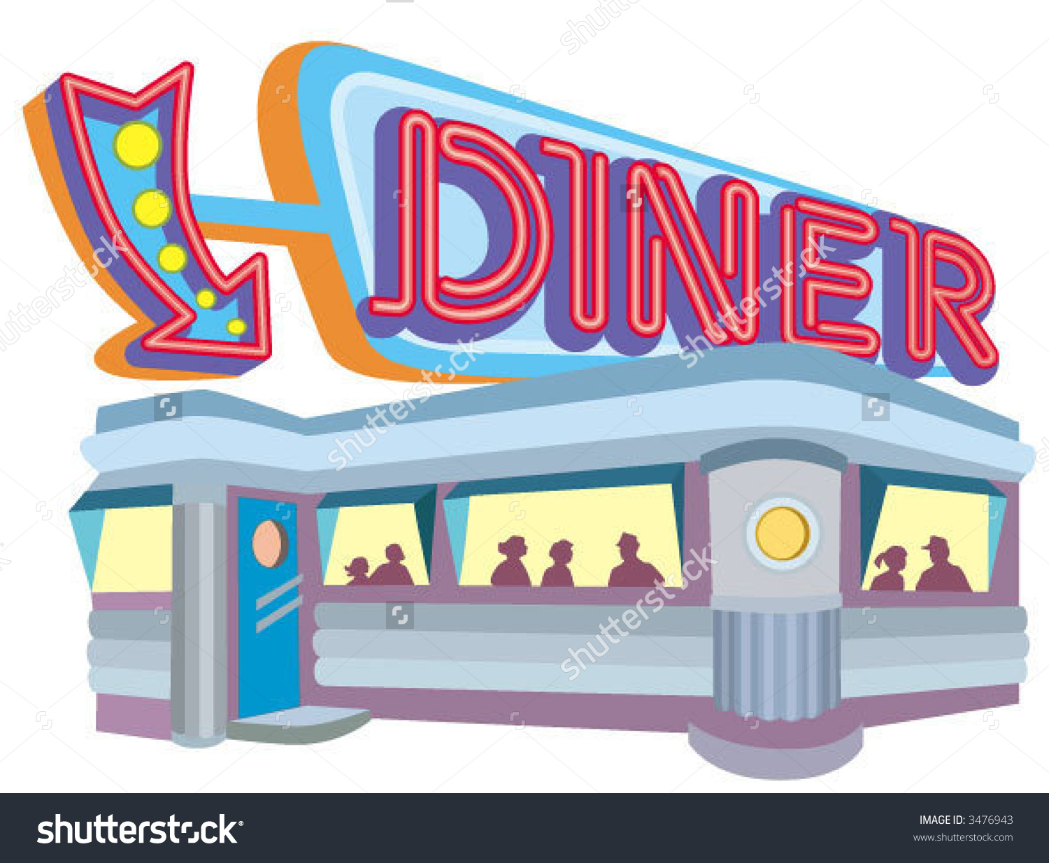 Showing post & media for 1950s diner cartoon.