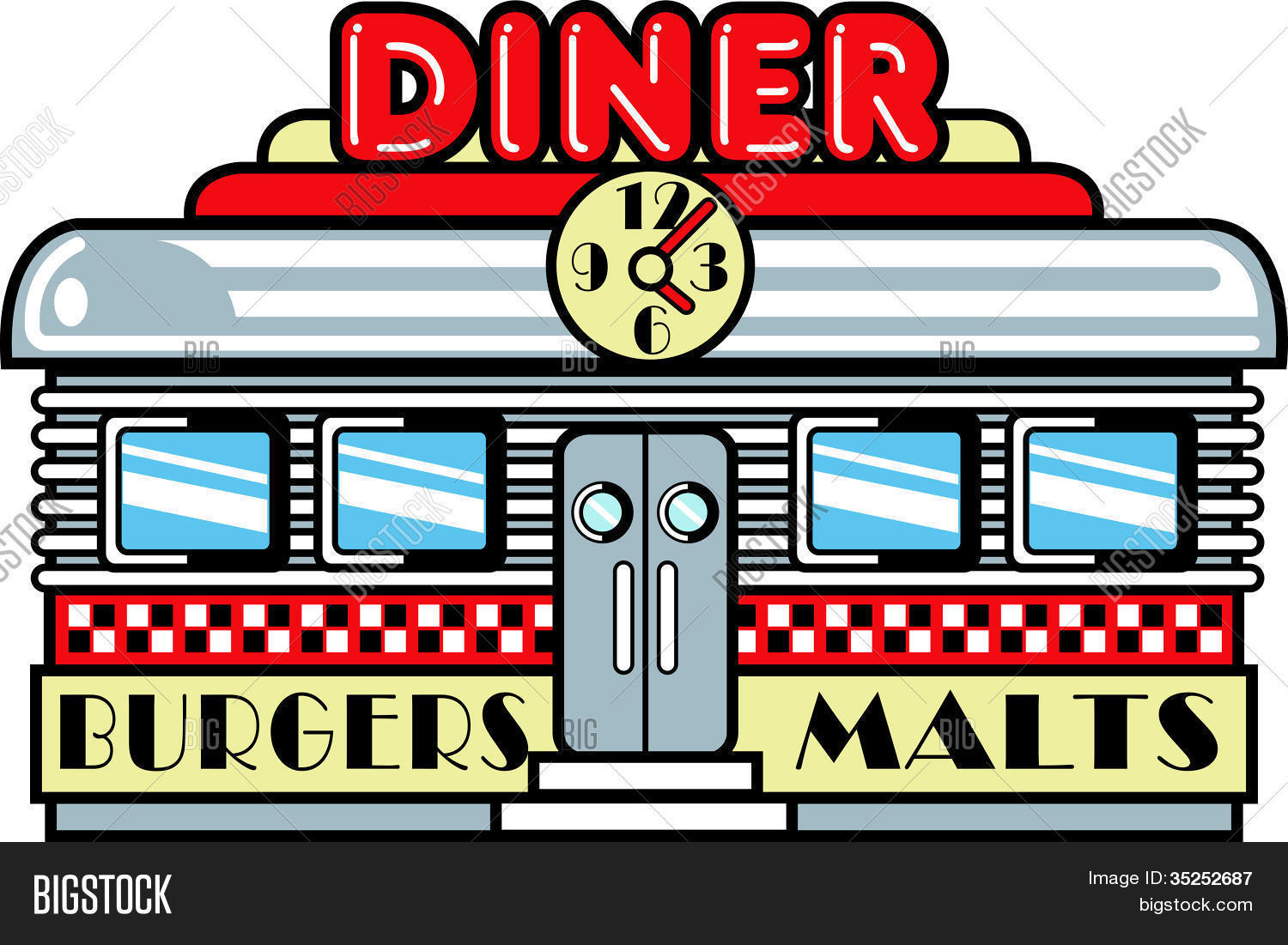 277 Diner free clipart.