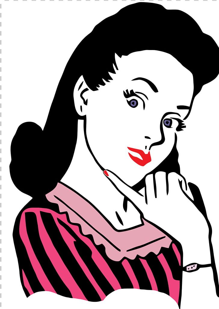 1950s Woman PNG, Clipart, Art, Artwork, Beauty, Black Hair.