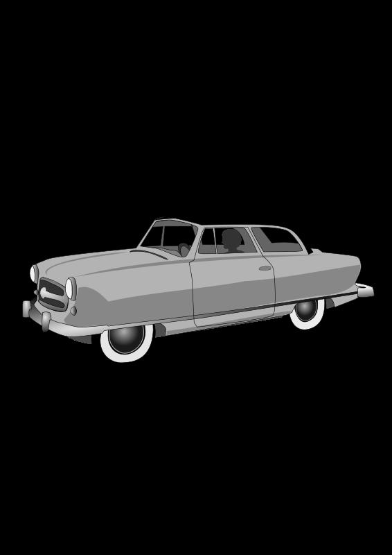 Free Clipart: 1950's Rambler Convertible.