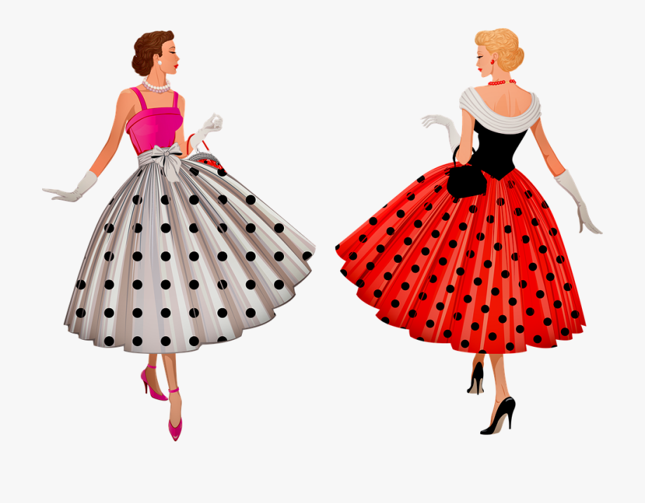1950\'s Fashion , Transparent Cartoon, Free Cliparts.