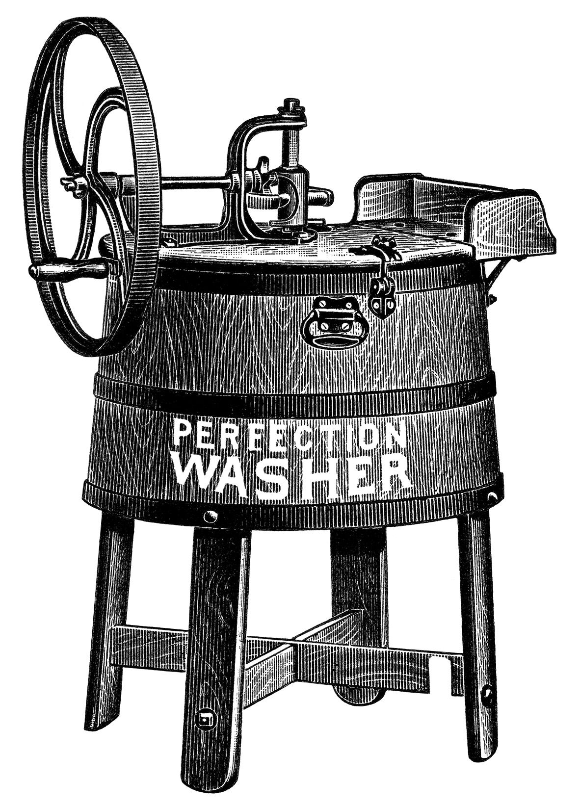 old catalogue ad, vintage laundry clip art, antique washing.