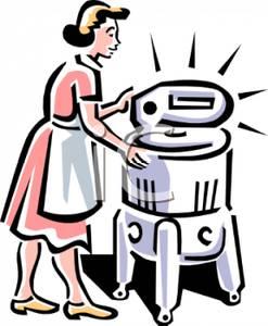 vintage ringer washing machine.