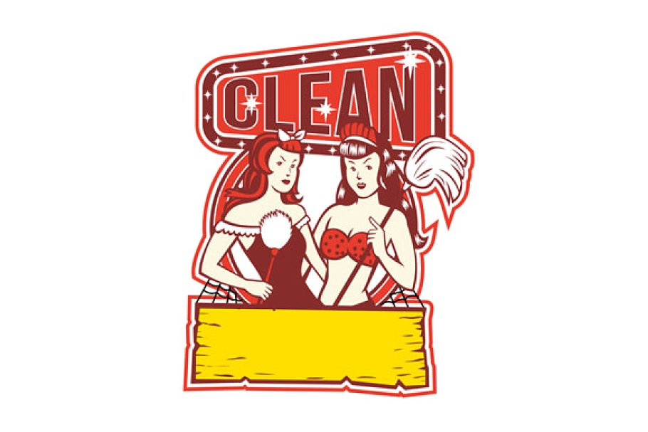 Twin Cleaners Clean 1950s Retro.