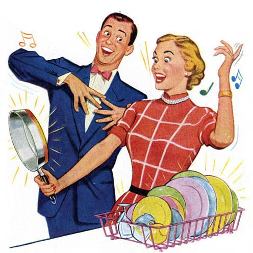 Can\'t say that washing dishes makes me want to sing! (1940.