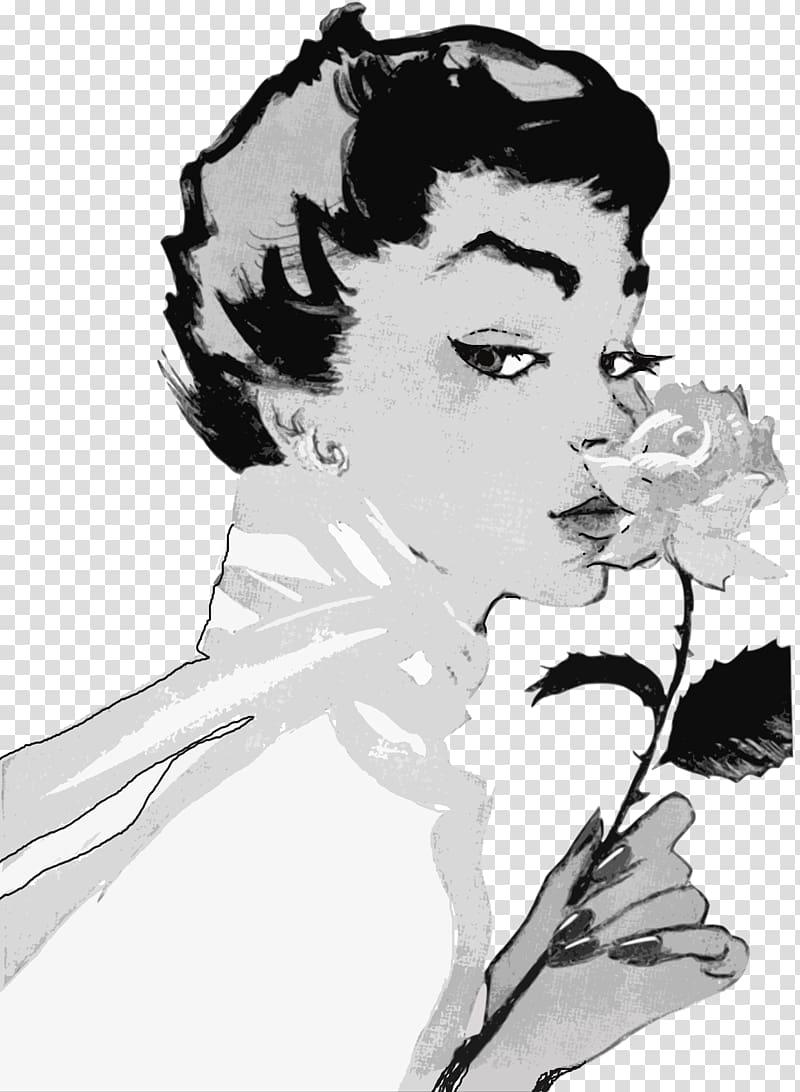 1950s Woman Female Advertising , vintage woman transparent.