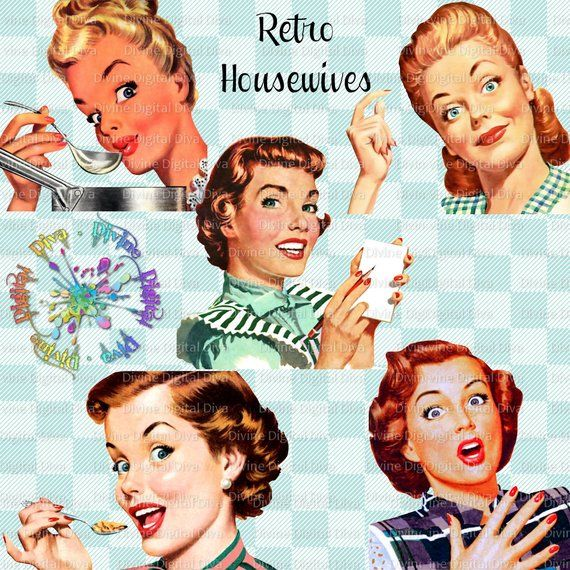 Retro Housewives 50s Vintage.