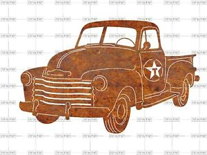 Details about DXF CNC Plasma Laser Cut Ready Vector 1951 Chevy Texaco  Delivery PU Digital Art.