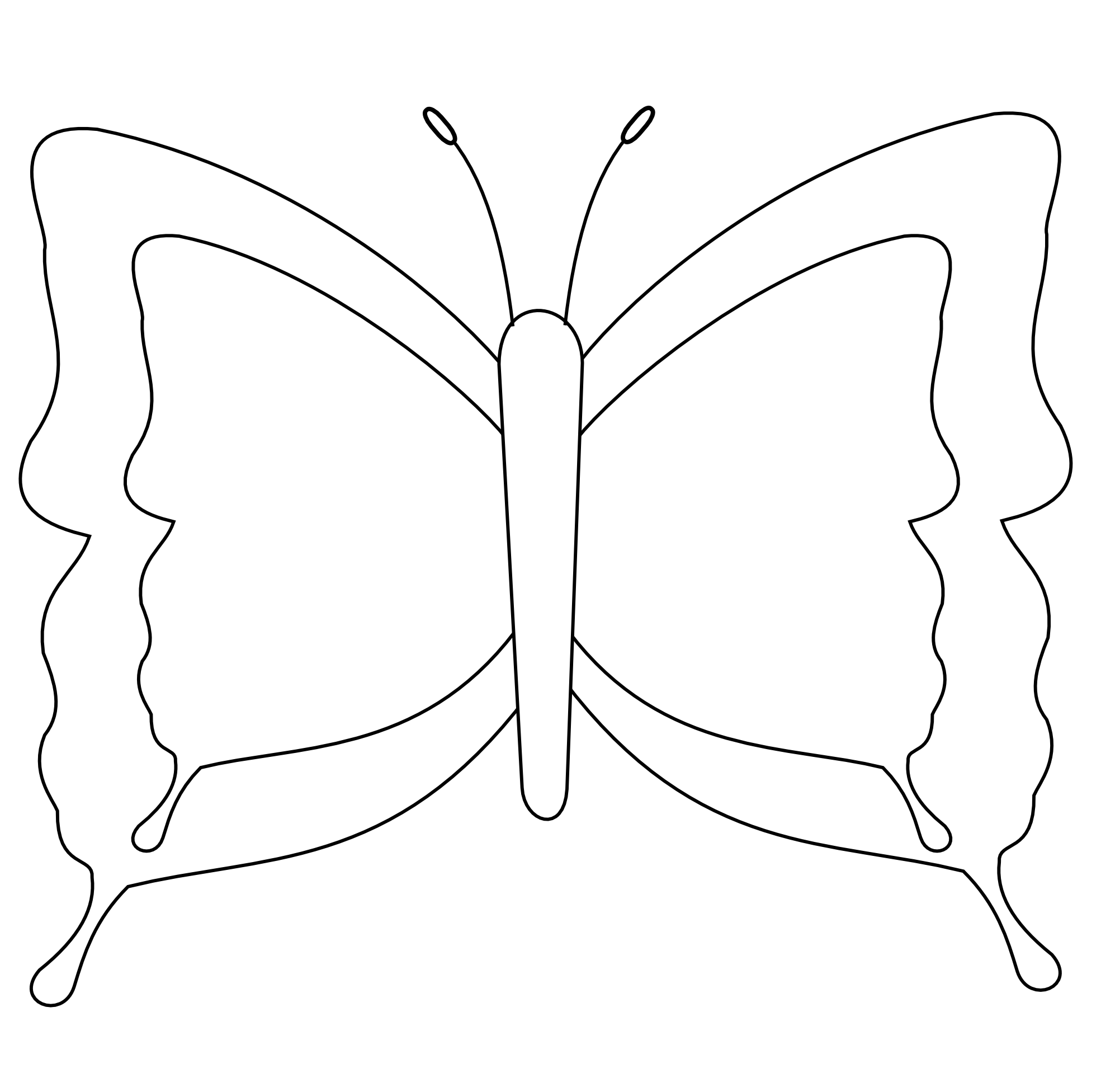White Butterfly Clipart.