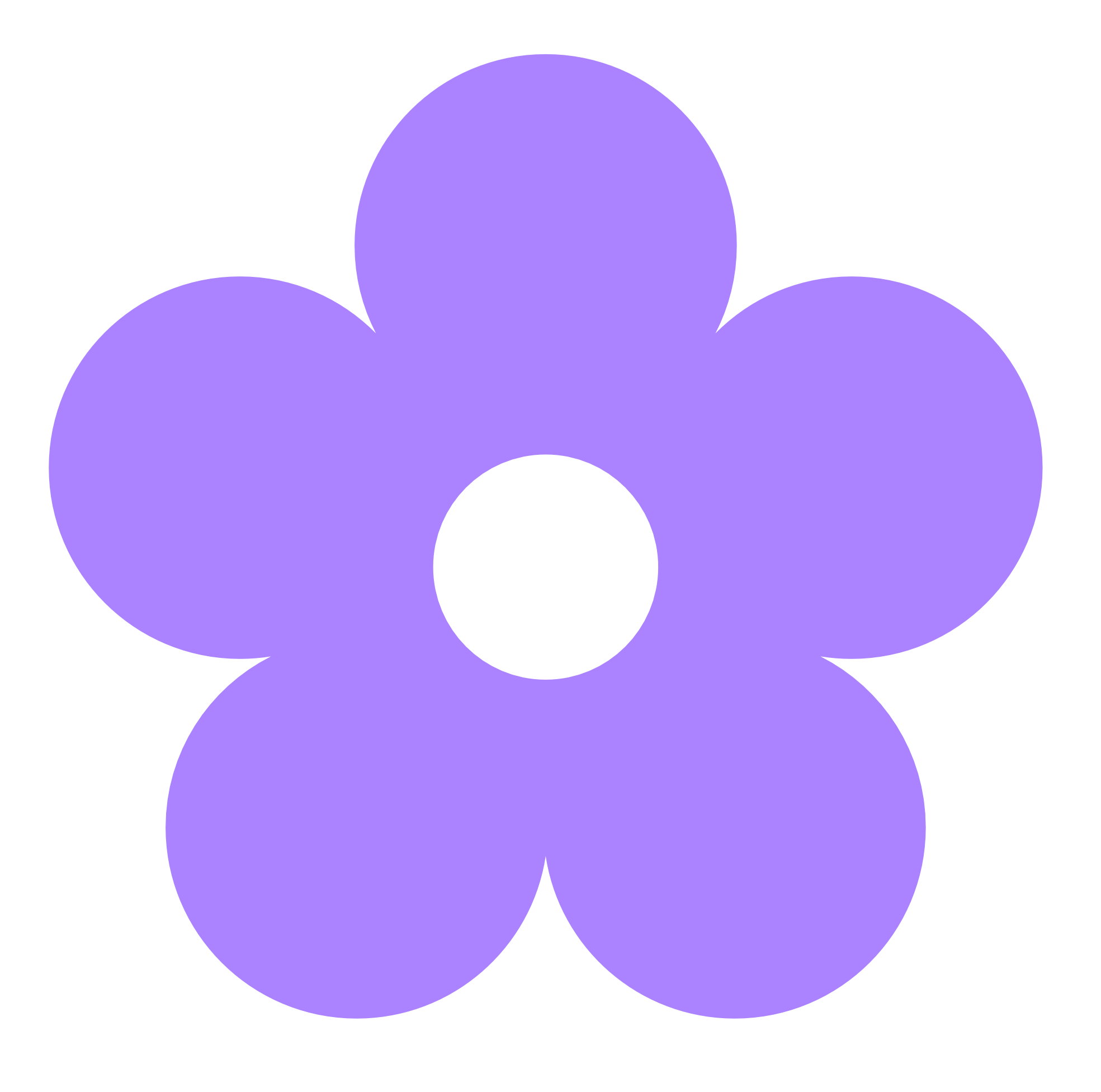 Violet Purple Flower Clip Art.