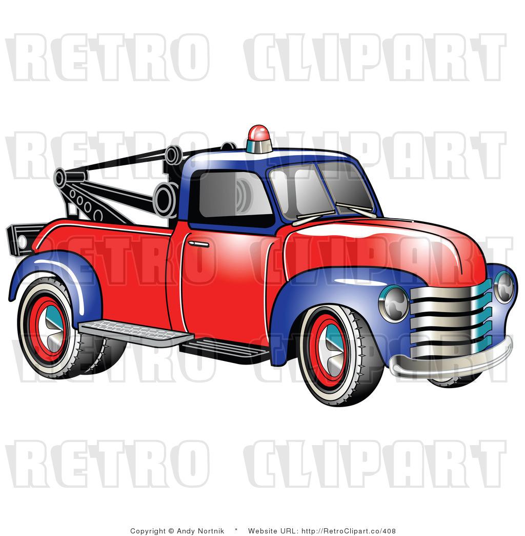 1953 Chevy Tow Truck Retro.