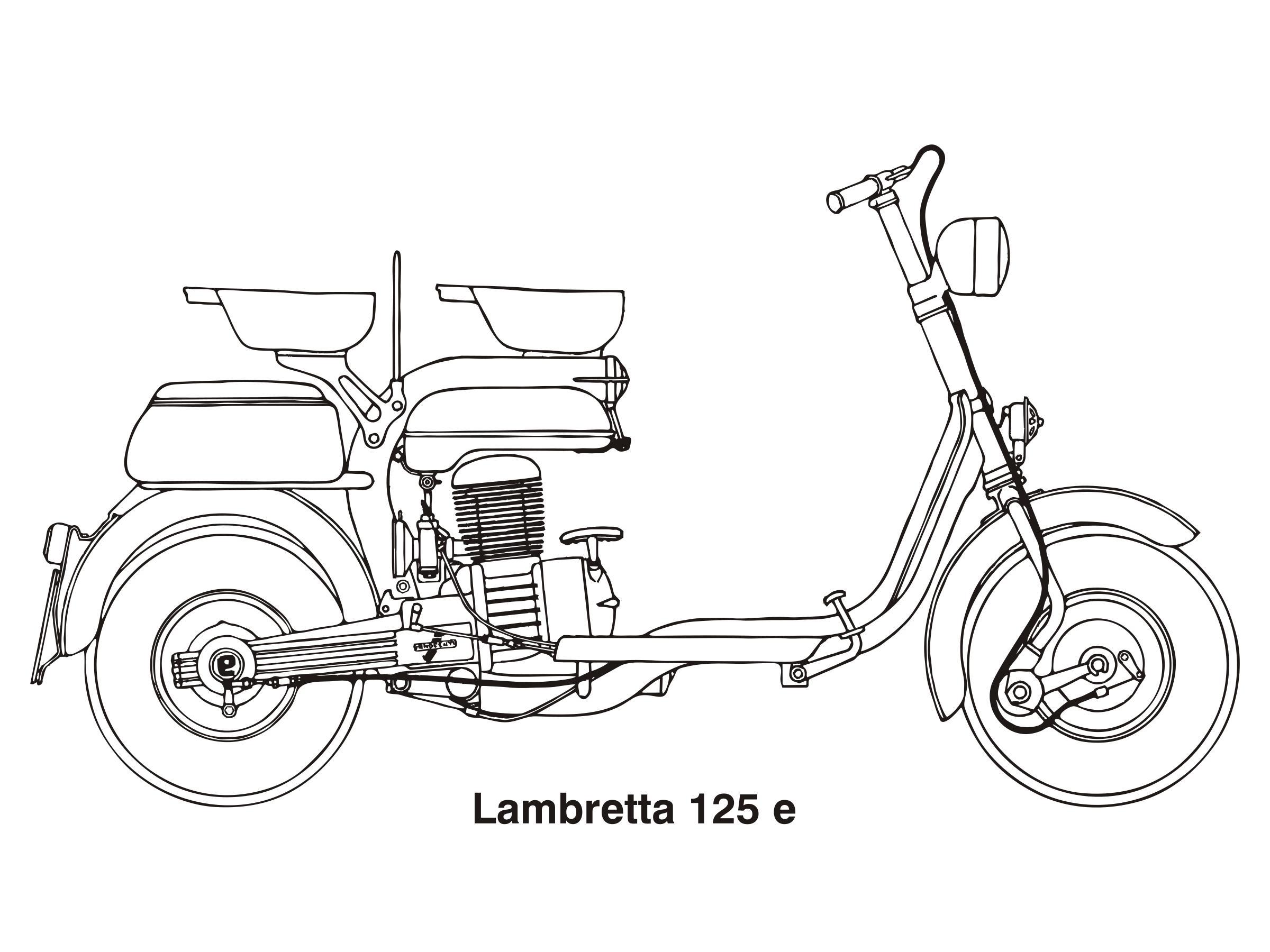 Lambretta 125 e, year 1953 Clipart.