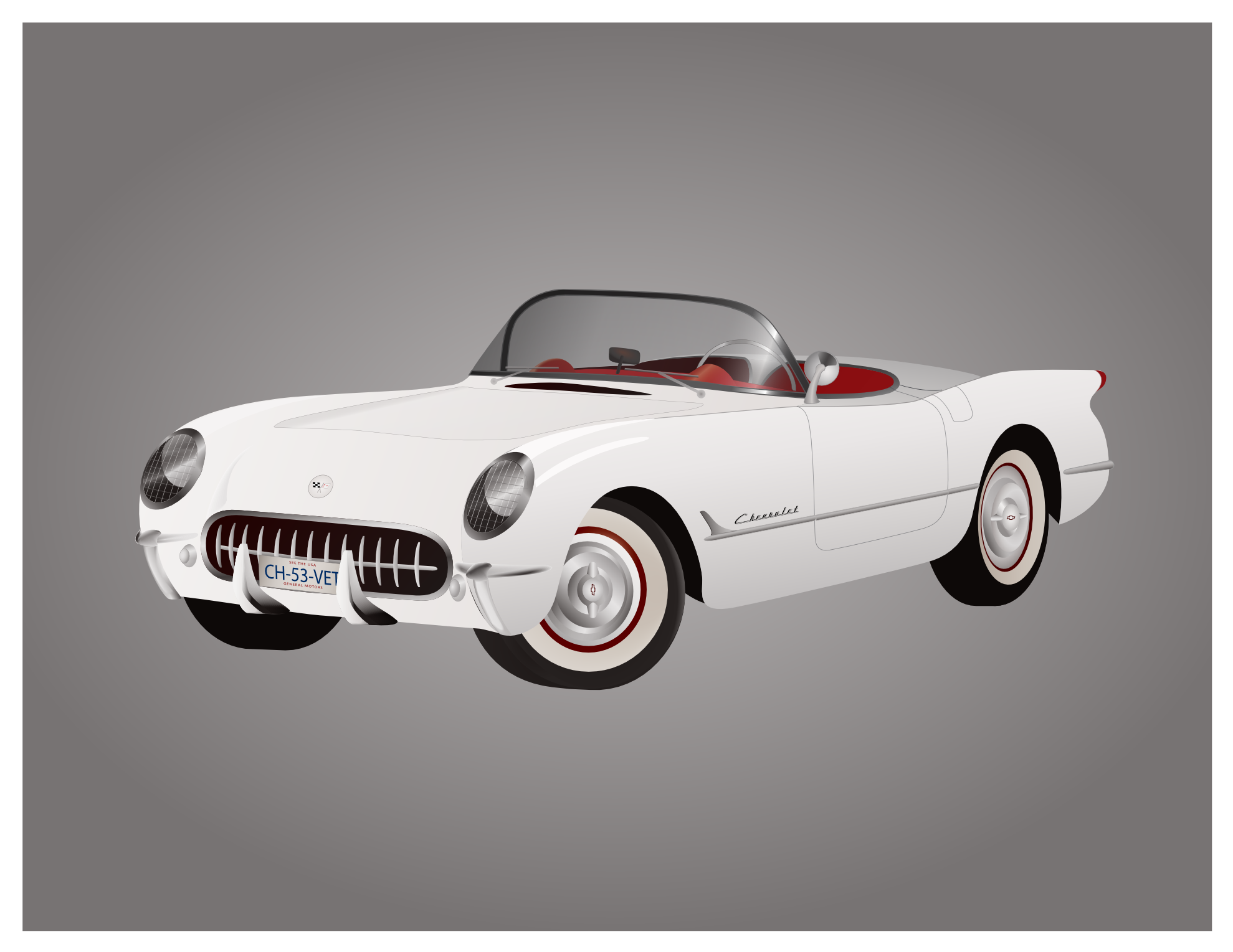 1953 Corvette Clipart.