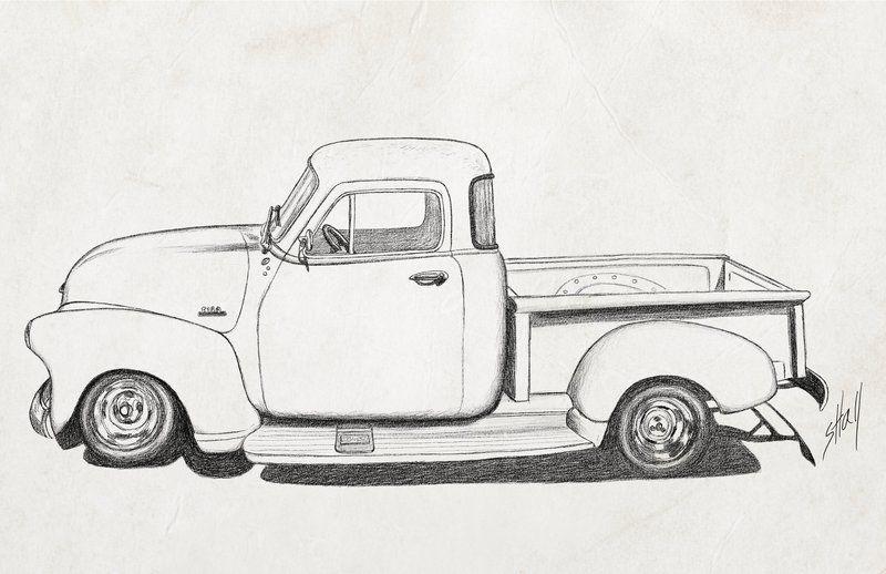 Truck Pencil Drawings.