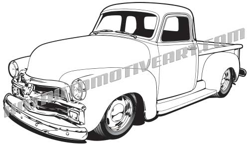 1954 chevy truck clipart clipart images gallery for free.