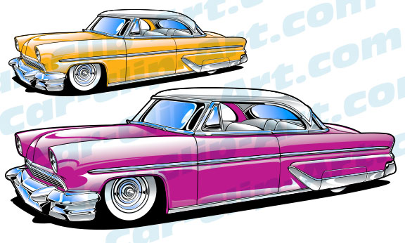 1954 Mercury Kustom Car Clip Art — Car.