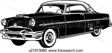 Clipart of , 1954, automobile, car, classic, mercury, monterey.