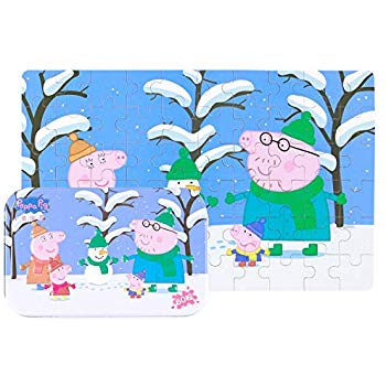 Yale Pink Pig Snow Kid 60 Piece Jigsaw Puzzle Game for 3.