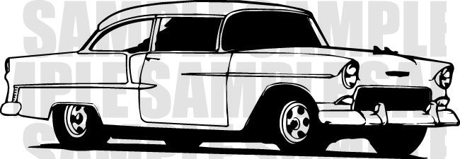 Free download 55 Chevy Clipart for your creation..