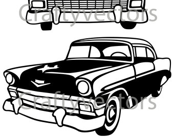 57 Chevy Silhouette at GetDrawings.com.