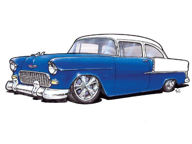 1955 car clipart.