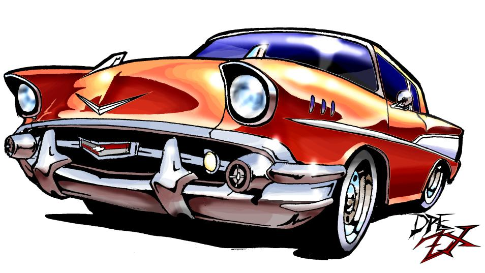 57 Chevy Clipart.
