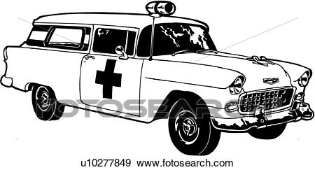 Clip Art of , 1955, automobile, car, chevrolet, chevy, classic.