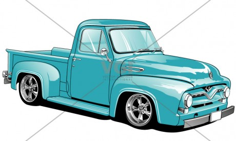 1955 Truck Clipart.