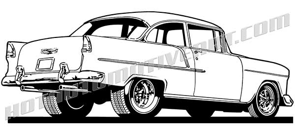 1955 chevy clipart.