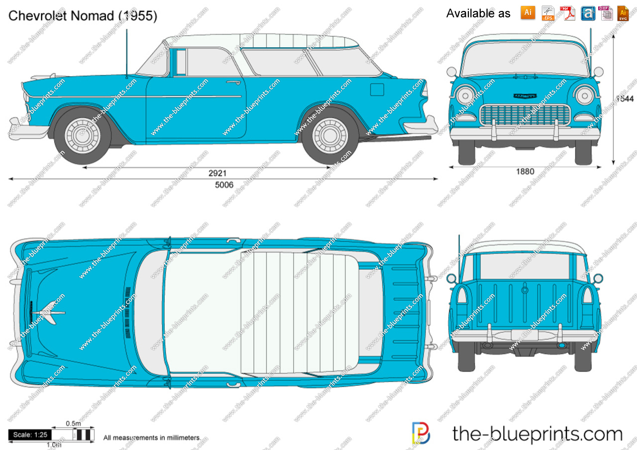 Chevrolet Nomad vector drawing.