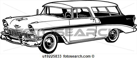 Clip Arts Of Chevy Bel Air Clipart.