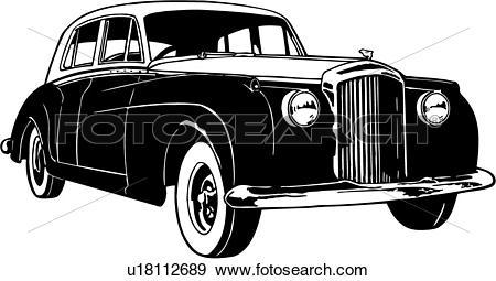 Clip Art of , 1956, automobile, bentley, car, classic, classic car.